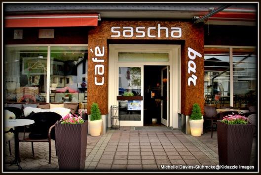 Outside Sasha's in Zell Am See.