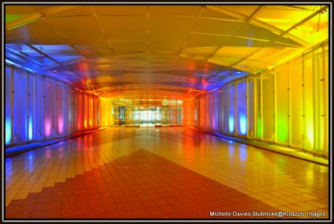 Rainbow Tunnel that connects the Kempinski Hotel to Franz Joseph Airport Munich