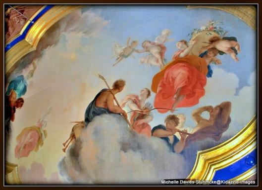 Ceiling probably painter by Jacob de Wit