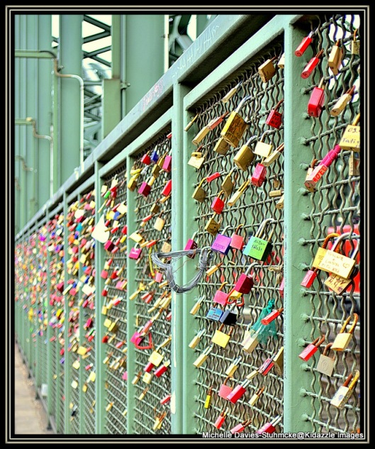 Lovers locks on the Bridge Cologne