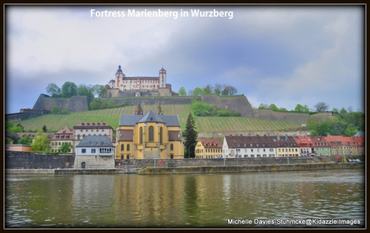 Fortress Marienburg from across the Main River in Wurzburg