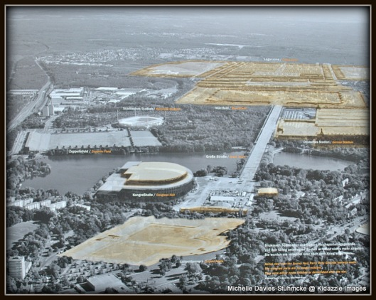 Arial view of Colesseum, Nuremberg, Germany.