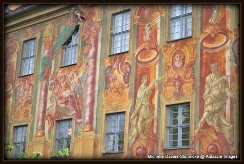 Painting on the Walls of the Alte Rathaus, Bamberg.