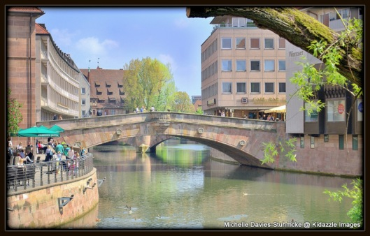 Nuremberg sits on the Pegnitz River.