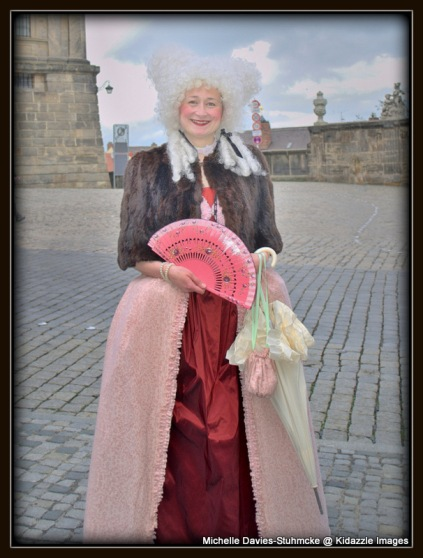 Lovely lady in traditional dress in Bamberg.