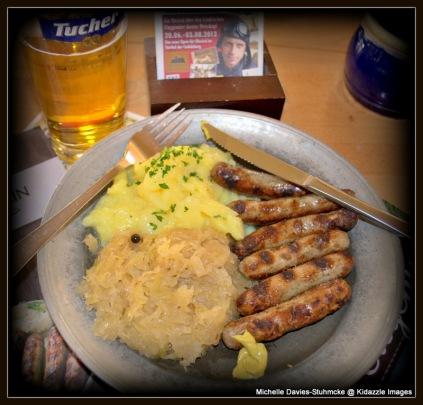 Nuremberg Sausages and Sauerkraut.