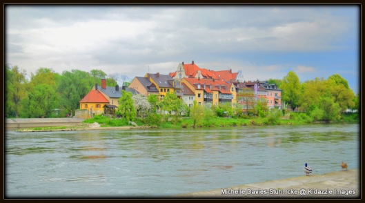Another  view from the old stone brige, Regensburg, Germany.