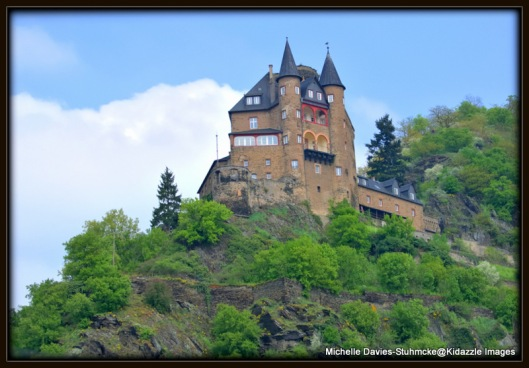 Same castle on the Middle Rhine in Germany