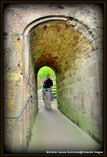 Through the tunnel and up the hill to the castle, Miltenberg, Germany