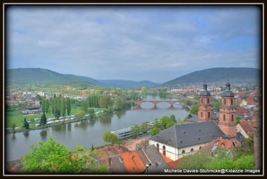 The view from the Miltenberg Castle, Germany