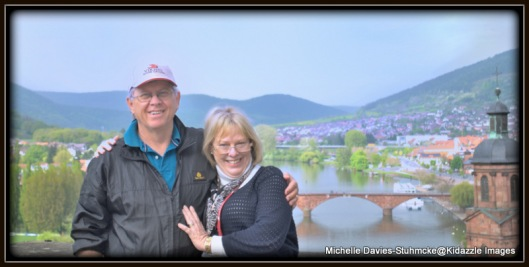 D.B. and I with the view of Miltenberg, Germany in the background