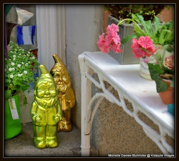 Cute little garden gnomes, Regensburg, Germany.