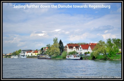 Sailing towards Regensburg, Germany