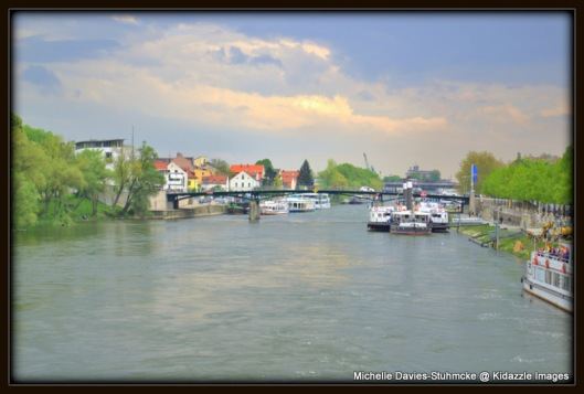 The Danube River, Regensburg, Germany.