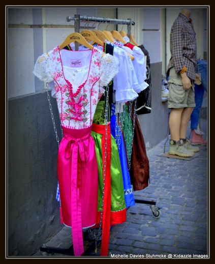 Traditional clothing for sale, Regensburg, Germany.