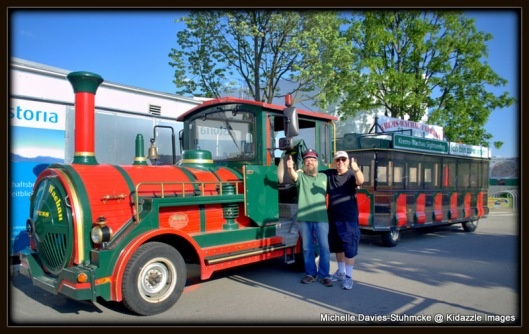 Red and Green Sightseeing Train, Krems, Austria.