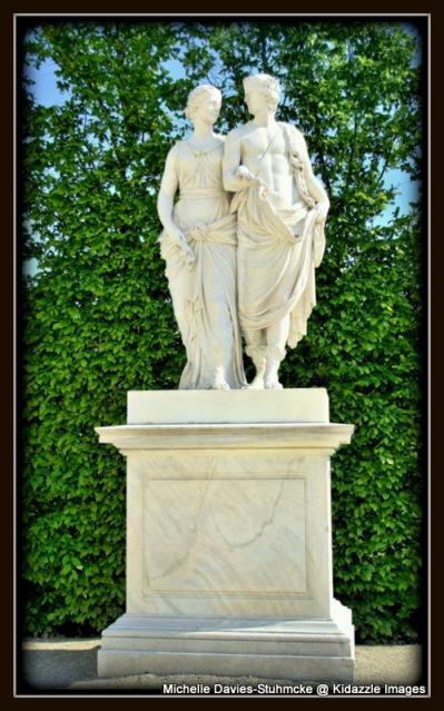 Garden statues, Schonbrunn Palace, Vienna