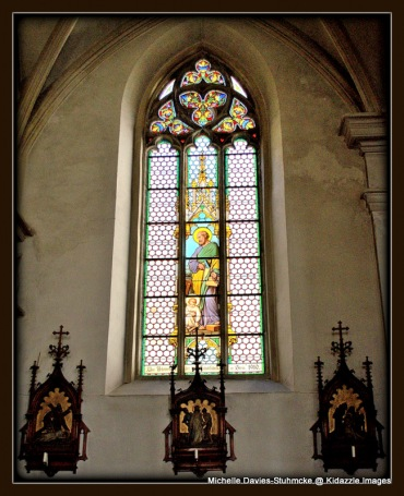 More Stained Glass in St Vitus Church, Krems, Austria.
