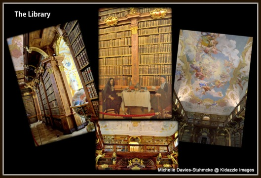 Library, Melk Abbey, Austria
