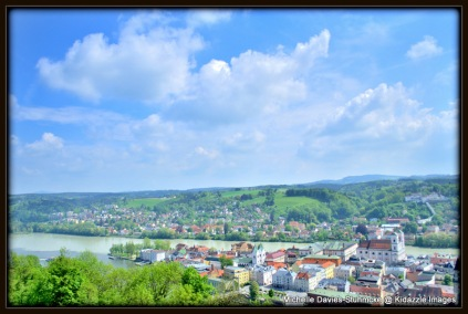 Another photo of the beautiful view in Passau, Germany