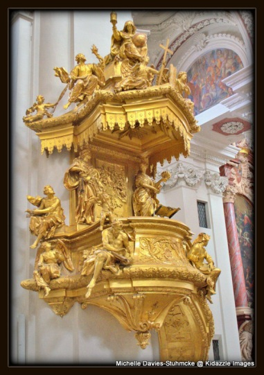 Gold statue, St Stephen's Passau, Germany.