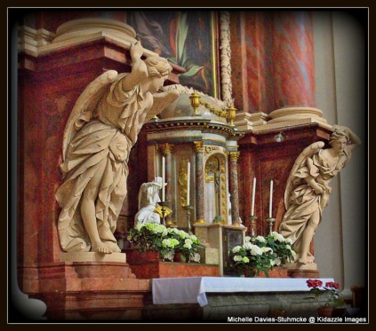 More Statues inside St stephen's Pasau, Germany