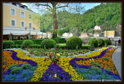 Spring Flower Display down near the river, Passau, Germany