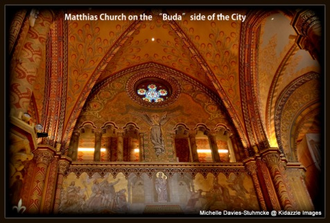 Beautiful detailed interior of Beautiful detailed interior of the Matthias Church, Budapest.