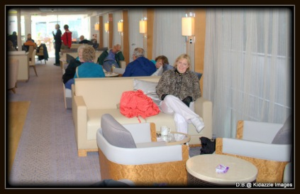 Michelle in the Viking Tor Lounge Area