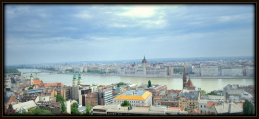 View from the Fisherman's Bastion in Budapest.