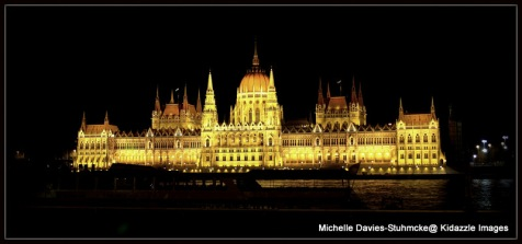 Colour Version of Parliament House, Hungary.