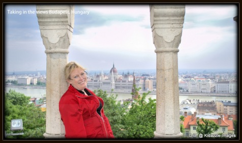 "Michelle taking in the beautiful Views from the ""Buda"" side of Budapest."