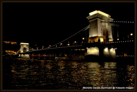 The Chain Bridge, Budapest, Hungary.