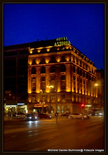 Hotel Astoria in Budapest, Hungary.