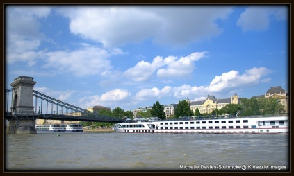 Another Viking River Cruise Boat in Budapest, Hungary.