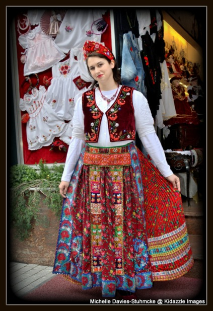 Another pretty girl in traditional dress, Budapest, Hungary.